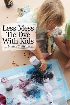 Less Mess Tie Dye with Kids - so smart! easi craft, camp craft, tie dye with kids, kid craft