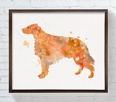Irish Setter Art Irish Setter Print Watercolor by MiaoMiaoDesign