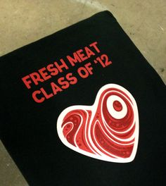Fresh Meat graduation shirts for Bristol Roller Derby.
