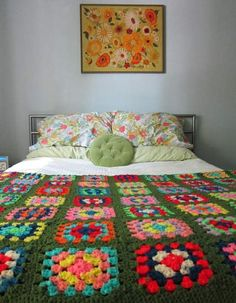 Transcendent Crochet a Solid Granny Square Ideas. Inconceivable Crochet a Solid Granny Square Ideas. Home Bedroom, Bedroom Decor, Granny Square Blanket, Granny Squares, Granny Granny, Afghan Blanket, Manta Crochet, Crochet Granny, Crochet Blocks