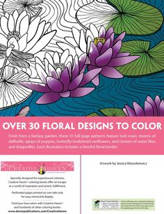 Creative Haven Floral Designs Coloring Book Ѿ ABOUT THIS BOOK Ѿ Welcome to Dover Publications