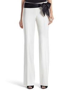 white slacks are such a risk, but so pretty