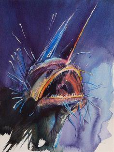 "Daily Paintworks - ""fish_3"" - Original Fine Art for Sale - © Beata Musial-Tomaszewska"