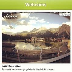 Auch die Webcam von Arosa ist Instagram-fähig.