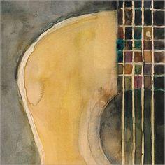 Resultado de imagen de guitar watercolors