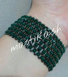 SPUNKYsoul Bohemian Multi-Colored Beaded Cuff Bracelets for Women Collection (Teal/Red/Cube) – Fine Jewelry & Collectibles Beaded Jewelry Patterns, Bracelet Patterns, Beading Patterns, Seed Bead Bracelets, Seed Beads, Bead Jewellery, Beading Tutorials, Bead Weaving, Jewelry Crafts