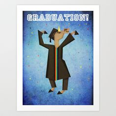 Graduation Unicorn Art Print by That's So Unicorny - $14.99