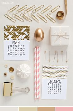 Neutral Gold and Creme | @1canoe2 Color Palette gold office accessories