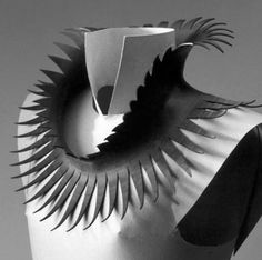 Neckpiece   Thea Tolsma. Made from recycling rubber inner tubes.  1993