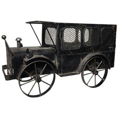 Antique Metal Car Model ($95) ❤ liked on Polyvore featuring home, home decor, models & figurines, car home decor, black home decor, antique home decor, car interior decor and metal figurines