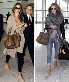 Comfortable outfit are a must when you travel but this shows you that you can also be stylish while doing so
