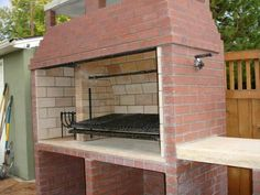 Argentinian Parrilla wood/charcoal grill - Forno Bravo Forum: The Wood-Fired Oven Community Outdoor Kitchen Patio, Pizza Oven Outdoor, Outdoor Kitchen Design, Outdoor Cooking, Outdoor Barbeque, Asado Grill, Bbq Grill, Parrilla Interior, Wood Stove Chimney