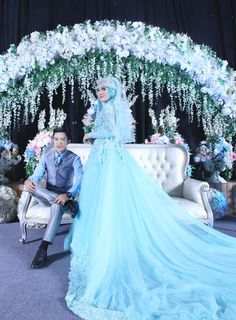 Yoda & Indria Wedding by LAKSMI - Kebaya Muslimah & Islamic Wedding Service - 007 Muslim Prom Dress, Muslim Wedding Gown, Muslimah Wedding Dress, Muslim Wedding Dresses, Wedding Hijab, Bridal Dresses, Wedding Picture Poses, Wedding Photography Poses, Wedding Poses