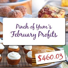 February Income Report - Making Money from a Food Blog - $460.03