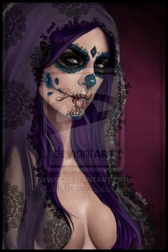 The night of the dead - SugarSkull by xMLBx.deviantart.com on @deviantART