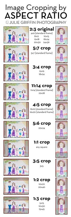 Image Cropping by Aspect Ratio for Photographers and Clients | Understanding print sizes | Julie Griffin Photography, Gilbert, Arizona