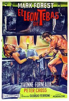 Movie Poster Mondays - Spanish poster for THE LION OF THEBES