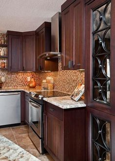 Kitchens.com - warm and cool finishes - Transitional Kitchens