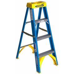 Werner 6004 4' Fiberglass Step Ladder, Multicolor
