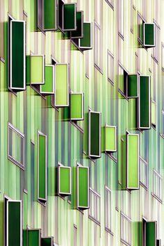 Go Green, Architecture, Windows, Green, Bar Napkin Productions, bnp-llc.com