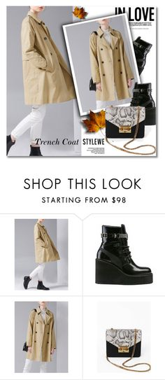 """""""STYLEWE"""" by svijetlana ❤ liked on Polyvore featuring Puma, Leather, MiniBag and trenchcoat"""