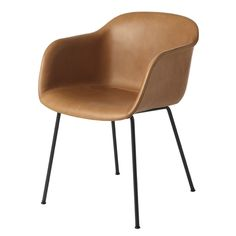 trends 2015 - thin tube legs, cognac, - dünne Stahlrohr Beine, Cognac - Muuto & Iskos-Berlin's Fiber Chair