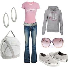 Pink and Gray weekend., created by disneydiva7 on Polyvore by stacey