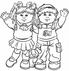 Cabbage Patch Kids Am Sitting Coloring Pages | Cabbage Patch Kids ...