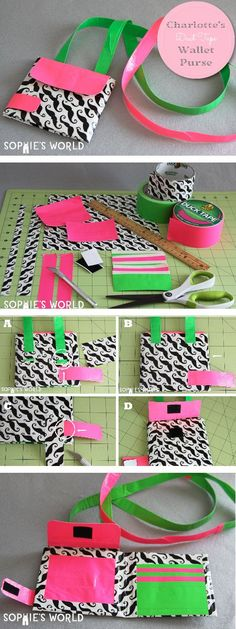 DIY Duct Tape Purse & Wallet #ducttape #backtoschool #craft #sophiesworld