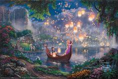 Thomas Kinkade Tangled print for sale. Shop for Thomas Kinkade Tangled painting and frame at discount price, ships in 24 hours. Disney Rapunzel, Art Disney, Tangled Rapunzel, Disney Kunst, Disney Love, Disney Magic, Disney Canvas, Princess Rapunzel, Disney Princesses