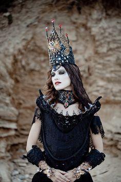 """Queen of Knight"" — Art Director: Galia Levi Photographer: Moriya Neva Makeup: Yulia Semchenko Model: Anastasia Nikulcha"