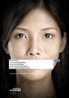 This is a very interesting campaign created by Ogilvy & Mather Dubai to help spread awareness of women's rights. This campaign was created for UN Guerilla Marketing, Street Marketing, Gender Inequality, Gender Roles, Plakat Design, Photo Images, Social Awareness, Socialism, Graphic Design Posters
