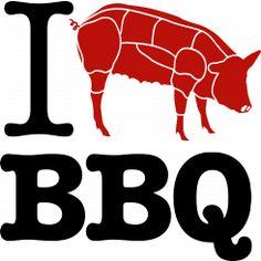 I love (Pork cuts) BBQ - Black
