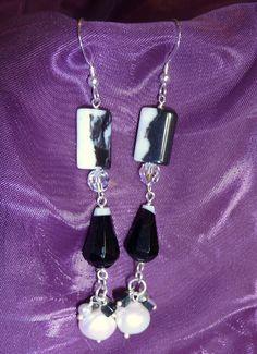 Zebra Crossing - Zebra jasper, fresh-water pearls, black onyx, Swarovski crystals and mother-of-pearl.
