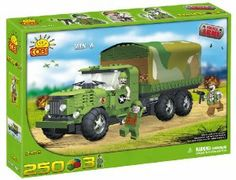 New! COBI ZIS-6 Army Truck 250 Piece Building Block Set by COBI. $39.99. Compatible with leading block brands!. Ages 6 +. Quality European craftsmanship!. New! COBI ZIS-6 Army Truck 250 Piece Building Block Set. Build your own Army squad! Includes figures!!