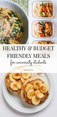 Healthy and budget-friendly meals for university students . - Healthy and budget-friendly meals for university students foodndrink - - Healthy Recipes On A Budget, Healthy Meal Prep, Healthy Drinks, Healthy Snacks, Healthy Eating, Meals On A Budget, Dinner Healthy, Cheap Easy Healthy Meals, Easy Meals For One