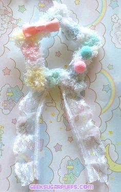 Fairy Kei Lolita Pastel Kawaii Fuzzy Star Hair by GeekSugarPuffs, $7.80