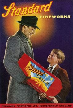 Standard Fireworks Retail Ad. - Father & Son ~ 1958 Retro Ads, Vintage Advertisements, Vintage Ads, 1970s Childhood, My Childhood Memories, Penny For The Guy, Standard Fireworks, Vintage Fireworks, Fireworks Photography