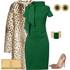 A fashion look from November 2014 featuring slim fit dress, open toe pumps and evening purses. Browse and shop related looks.