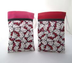 Set of 5 Hello Kitty Party Favor Bags by FavorWrap on Etsy, $15.00