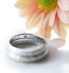 重ね合わせた時にイニシャル「Y・M」があらわれる刻印をいれました。 [marriage,wedding,ring,bridal,Pt900,プラチナ,マリッジリング,結婚指輪,オーダーメイド,ウエディング,ith,イズマリッジ]
