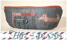 Alte Jeans, alte Bluse - neues Mäppchen!