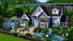 sims 4 house on foundation Sims 4 Family House, Family House Plans, Sims 4 House Plans, Sims 4 House Building, Sims 4 Ps4, Sims 3, Lotes The Sims 4, Sims 4 House Design, Underwater House