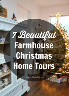 7 beautiful farmhouse Christmas home tours! So many pretty DIY decor ideas for a farmhouse and cottages or any home, really. Dagmar's Home, DagmarBleasdale.com #Christmas #cottage #farmhouse #home #tour