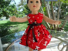 American Girl Dolls-Handmade-Lovely Puppy Dress.