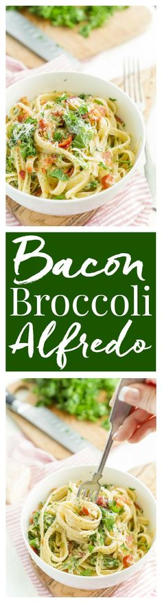 We loved this Bacon & Broccoli Fettuccine Alfredo, it was better and cheaper than going to a restaurant and the flavors are amazing! Plus it was ready in less than 30 minutes with prep time and everything! SO GOOD! I can't recommend it enough!