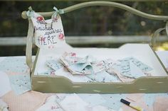 guest book & inspiration from the guest! Sign the quilt squares & then make a quilt. luv!!! <3