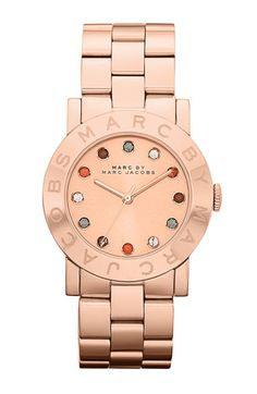 Slightly obsessed with MARC BY MARC JACOBS 'Dexter Amy' Round Bracelet Watch  $200 #rosegold