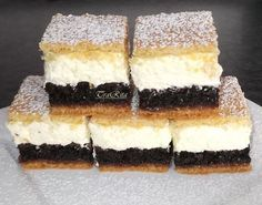 nevenincs krémes Hungarian Desserts, Hungarian Recipes, Hungarian Food, Meat Recipes, Cake Recipes, Dessert Recipes, Cake Bars, Winter Food, Nutella