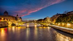 Photograph Seine by night ... by Frédéric MONIN on 500px